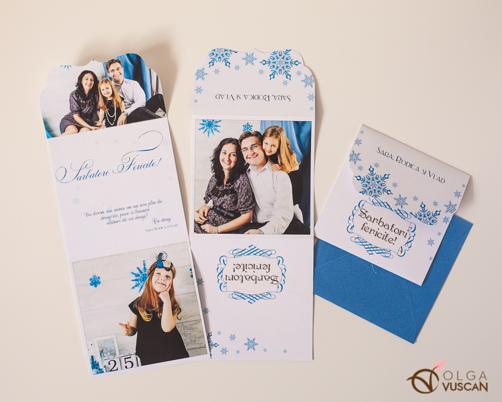 felicitari de Craciun personalizate,calendar 2014 personalizat, poze de Olga Vuscan