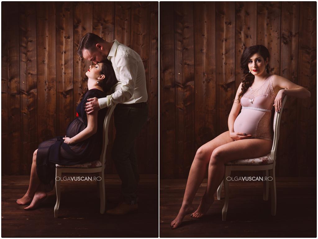 sedinta foto maternitate studio_fotograf maternitate Olga Vuscan