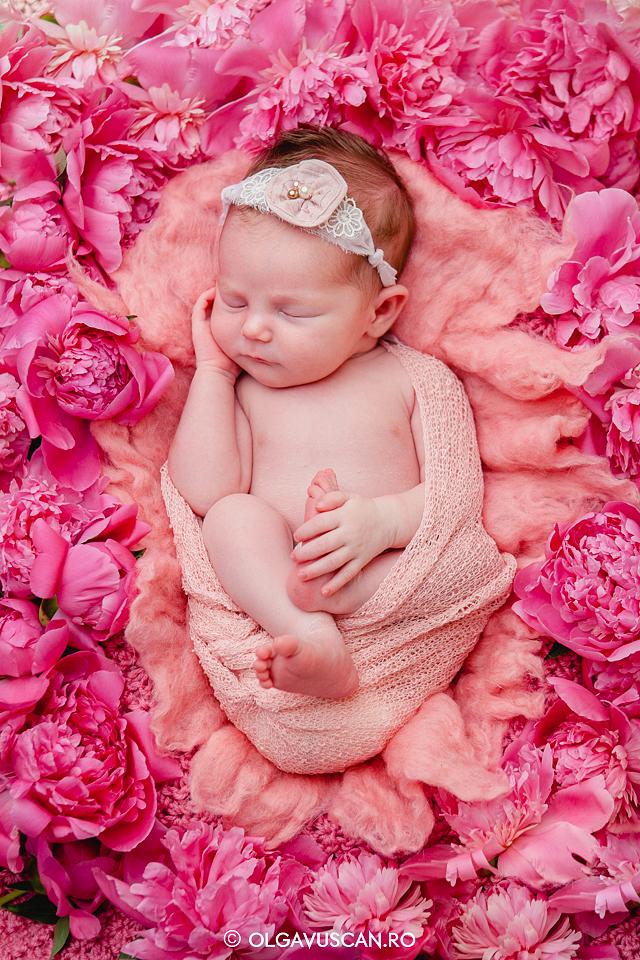 sedinta foto de fetita cu bujori_fotograf bebelusi Olga Vuscan