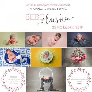 Atelier de fotografie pentru nou-nascuti cu Olga Vuscan si Camelia Burduja in Cluj