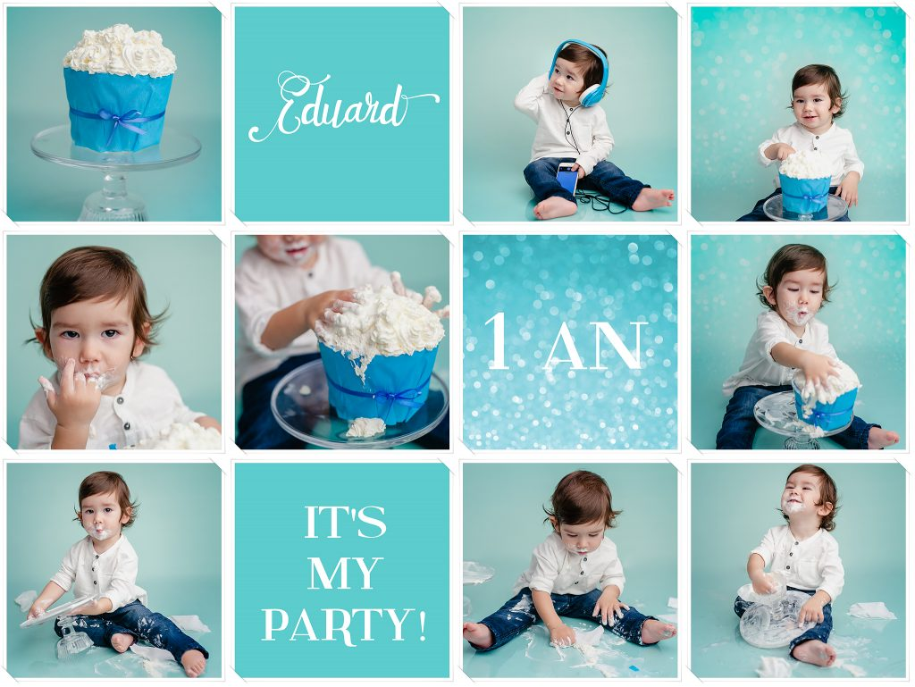 smash the cake, sedinta foto 1 an studio, sesiune foto aniversara, sedinta foto baieti 1 an, fotograf copii Cluj