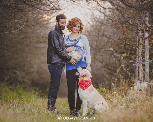 Anda, Cristi si Marley ~ sesiune foto de maternitate {Cluj}