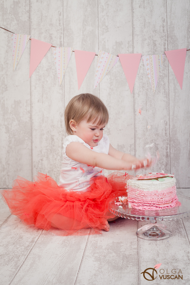 sedinta foto 1 an, smash the cake_tort Laura Veja, fotograf copii Olga Vuscan