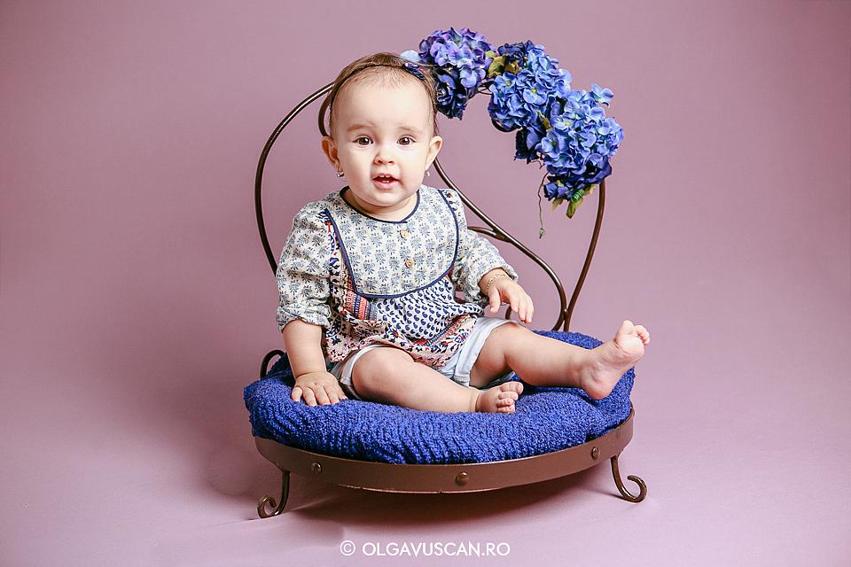 sedinta foto 1 an, sesiune foto fetite 1 an, fotografii aniversare 1 an, fotograf copii Cluj